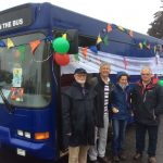 The Bus decorated ready for the Whit Walk