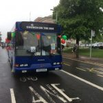 The Bus driving along Rose Hill East