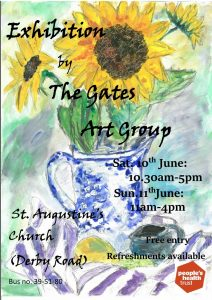 Poster advertising the Exhibition by the Gates Art Group